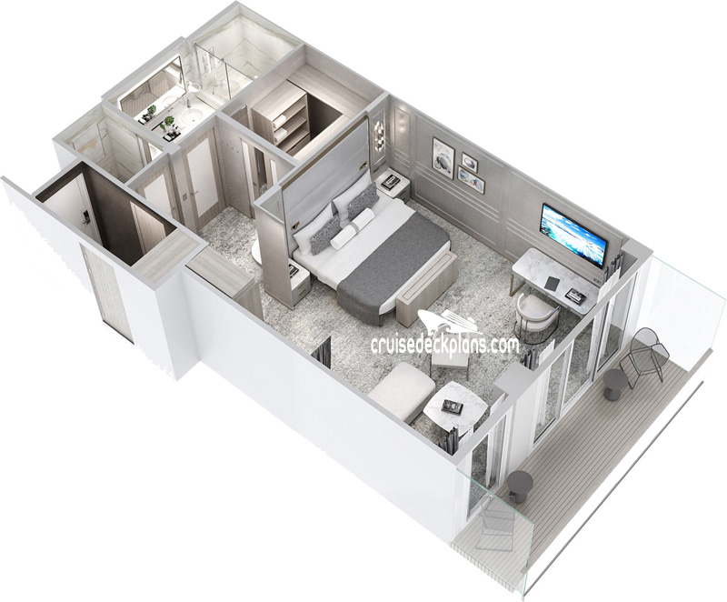 Crystal Endeavor Penthouse Suite Diagram Layout