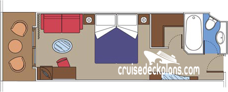 MSC Divina Yacht Club Deluxe Diagram Layout