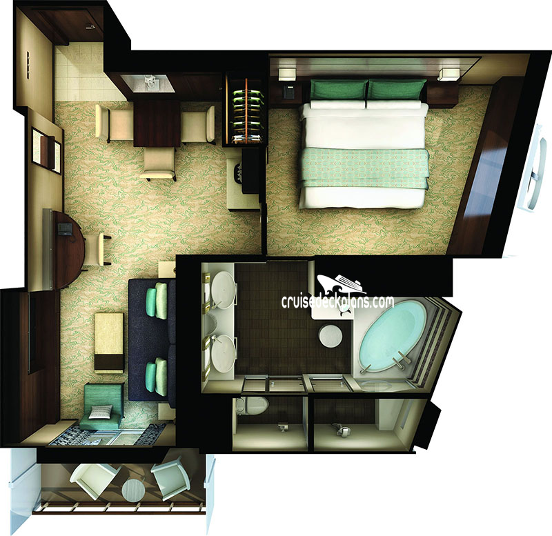 Norwegian Bliss Haven Forward Penthouse Diagram Layout