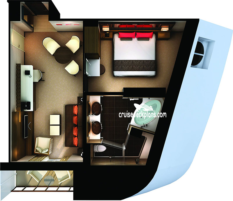 Norwegian Getaway Haven Forward Penthouse Diagram Layout