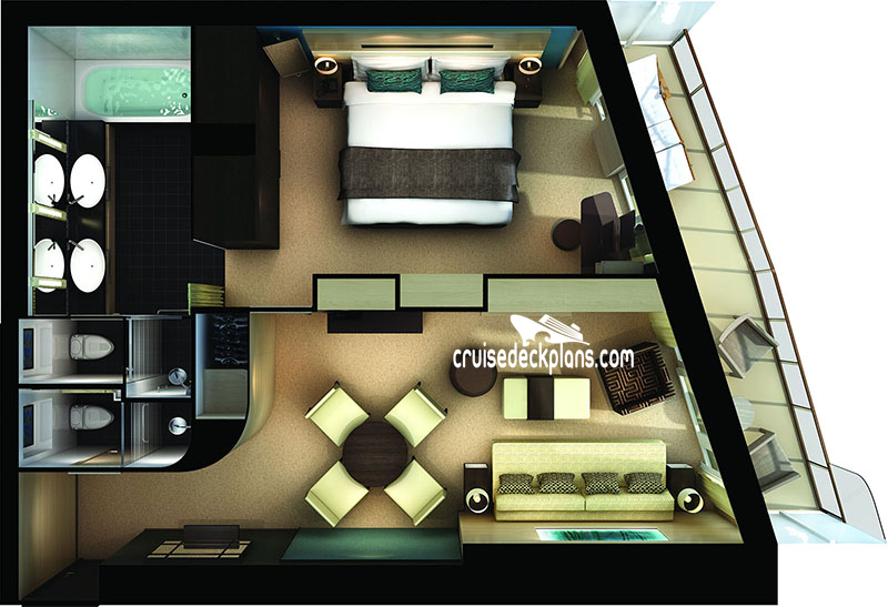 Norwegian Getaway Haven Aft Penthouse Diagram Layout