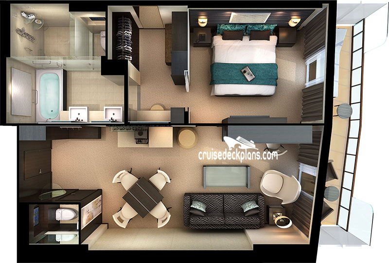 Norwegian Getaway Haven Owner Suite Diagram Layout