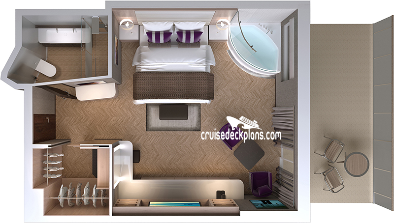 Norwegian Encore The Haven Spa Suite Diagram Layout