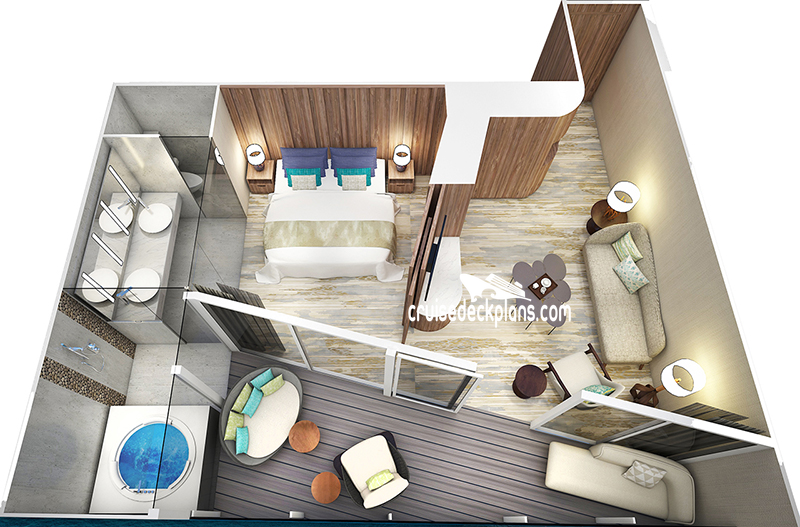Celebrity Flora Royal Suite Diagram Layout