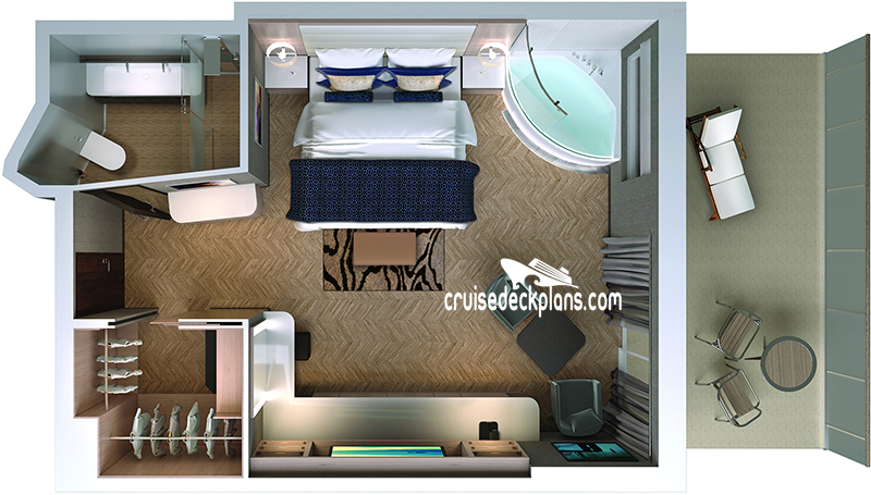 Norwegian Bliss The Haven Spa Suite Diagram Layout