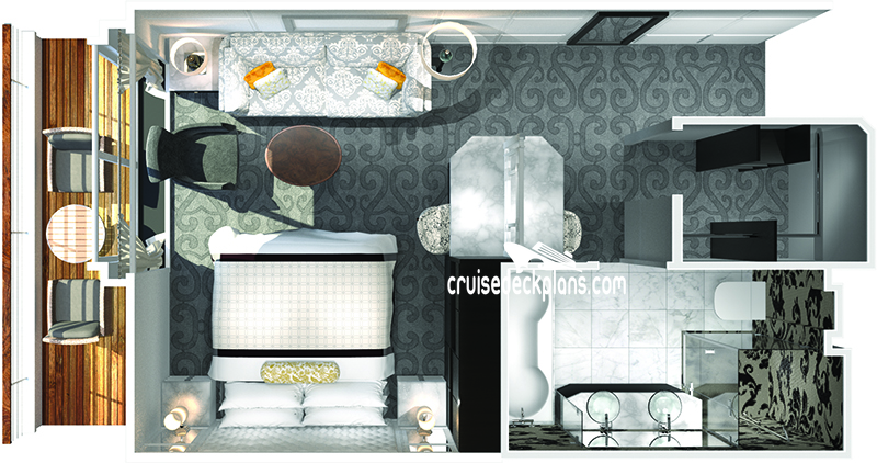 Crystal Serenity Penthouse Diagram Layout