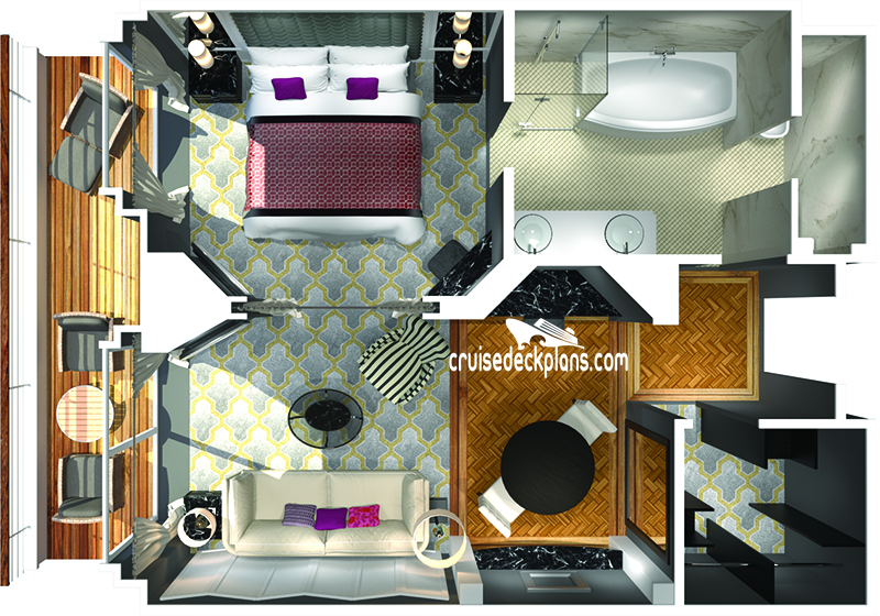 Crystal Serenity Penthouse Suite Diagram Layout